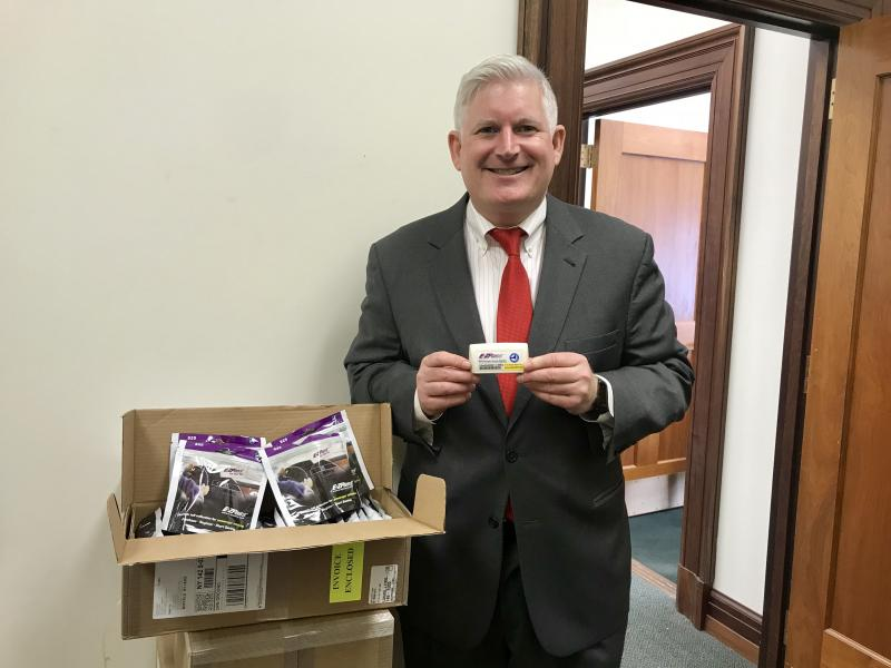 Erie County Clerk Mickey Kearns ecourages drivers to sign up for E-ZPass