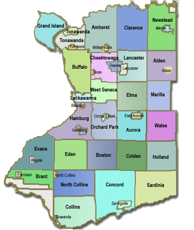 Erie County Map