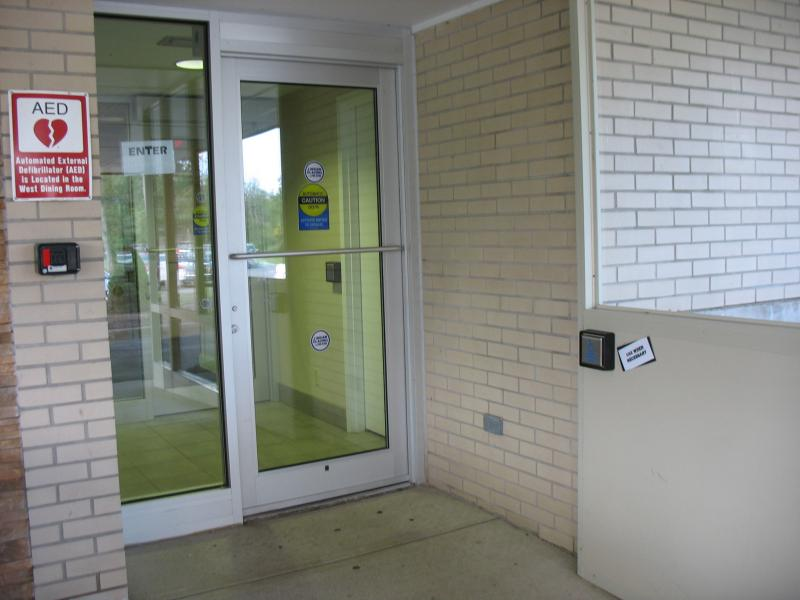 Town of Clarence Senior Center- Handicapped Accessibility Improvements. New push button entrance doors.
