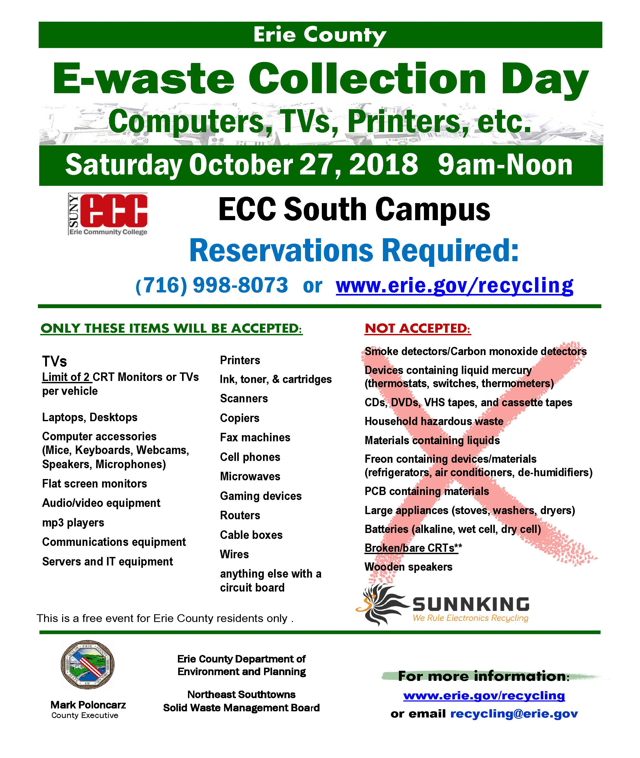 E-Waste Collection Flyer