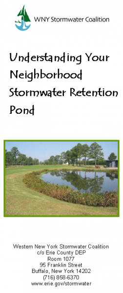 Stormwater Pond Guide brochure
