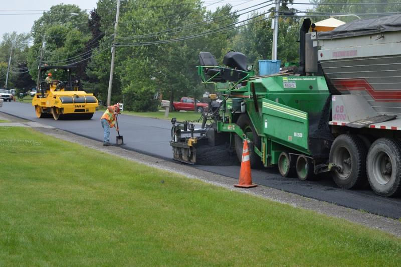 Amsdell Road Paving 1