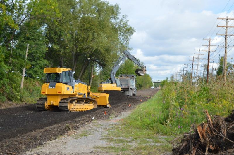 Heavy Machinery Creates Rails to Trails Project