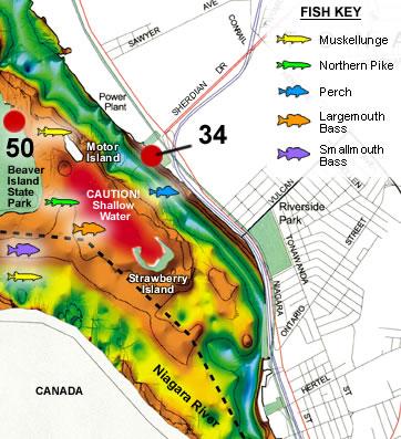Strawberry Island Western New York Hotspot Fishing Map - Fishing hotspot maps