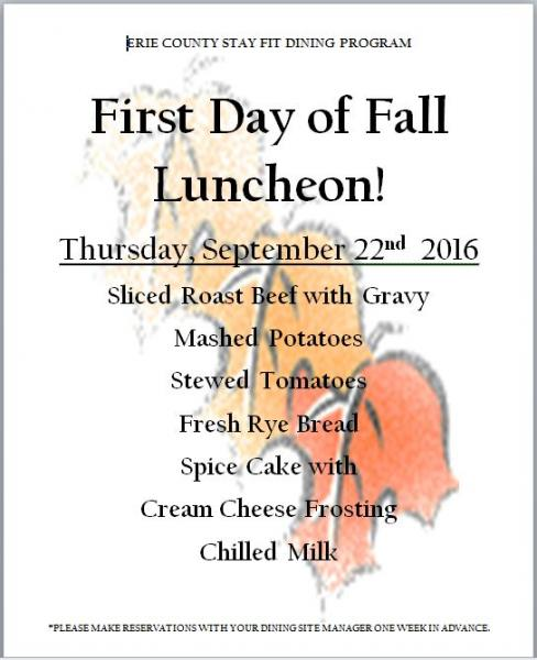 First Day of Fall Luncheon