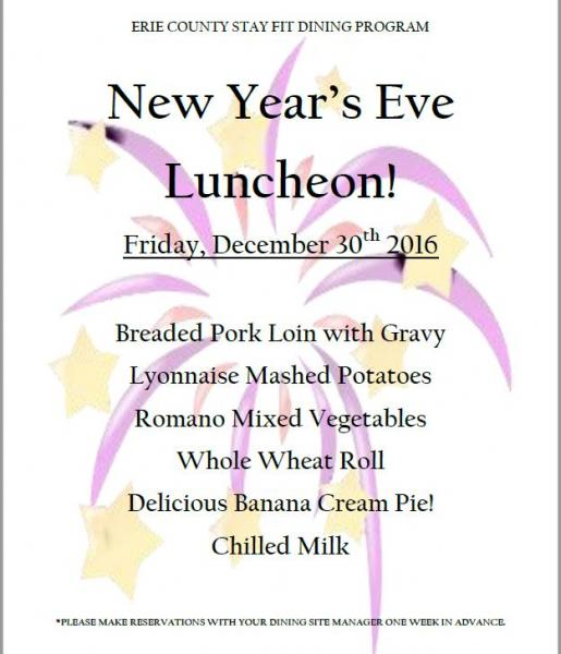 New Years Eve Luncheon