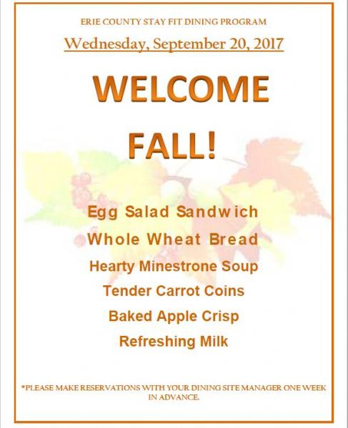 Welcome Fall Lunch 2017