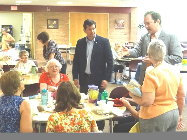Erie County Executive Mark Poloncarz and Commissioner of Senior Services visit the West Seneca Senior
