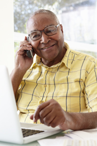 Photo of a man on the telephone