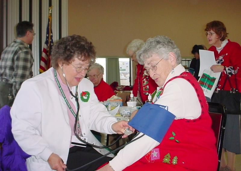 blood pressure at outreach event