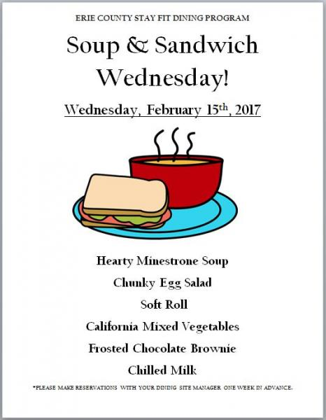 Soup & Sandwich Wednesday 2017