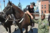 Sheriff Tim Howard takes part in the first day of the 53rd annual Western New York Armed Forces Week