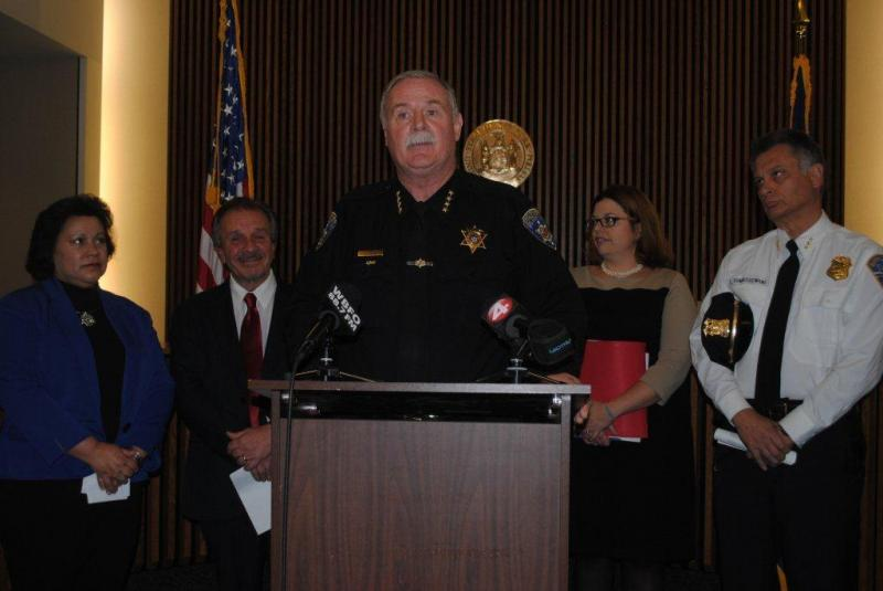 Sheriff Tim Howard joins other Officials in announcing a new Human Trafficking Intervention Court