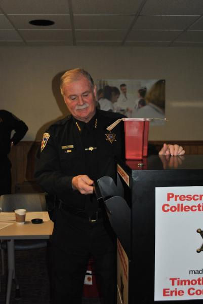 Sheriff Tim Howard announces Prescription Drug Drop Box Locations at ECMC