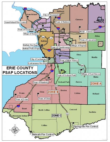 Erie County Psap Map