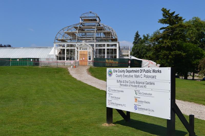 7 23 15 Improvements Underway At Buffalo Erie County Botanical Gardens Erie County Executive Mark C Poloncarz